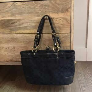 Black Coach tote handbag